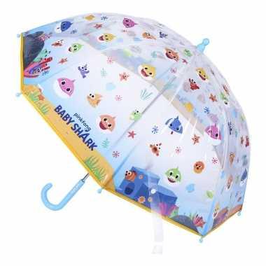 Baby shark gekleurde kinderparaplu jongens meisjes speelgoed