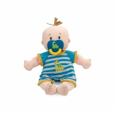 Baby stella poppen blauw wit gestreepte kleding speelgoed