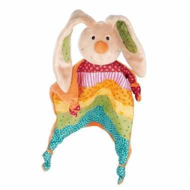 Baby tutteldoekje regenboog konijn speelgoed