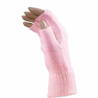 Baby verkleed lichtroze handschoenen vingerloos volwassenen speelgoed