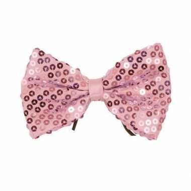 Baby vlinderdassen zachtroze pailletten speelgoed