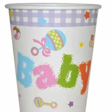 Baby  Vrolijk gekleurde kraamfeest bekers speelgoed