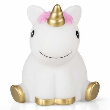 Baby wit/roze eenhoorn nachtlampje speelgoed