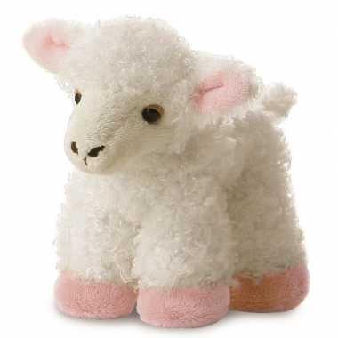 Baby witte boerderijdieren knuffels schaap/lam speelgoed