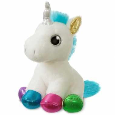 Baby witte fantasiedieren knuffels eenhoorn speelgoed
