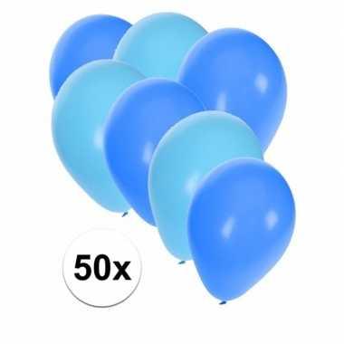 Baby x ballonnen lichtblauw blauw speelgoed