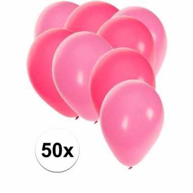 Baby x ballonnen roze lichtroze speelgoed