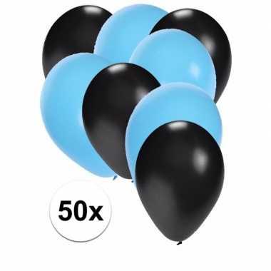 Baby x ballonnen zwart lichtblauw speelgoed