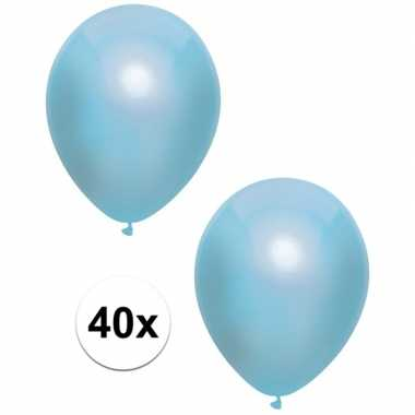 Baby x blauwe metallic ballonnen speelgoed