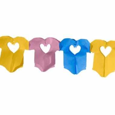 Baby x geboorte versiering rompertjes slingers speelgoed