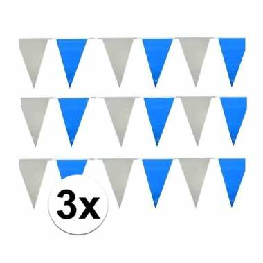 Baby x licht blauw witte buiten vlaggetjes speelgoed