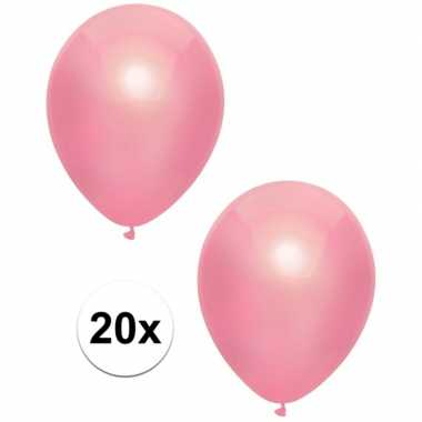 Baby x roze metallic ballonnen speelgoed