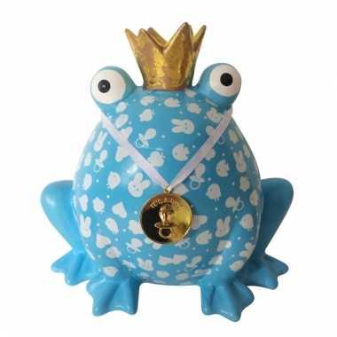 Baby xl spaarpot kikker blauw speelgoed