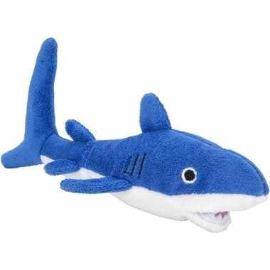 Baby zeedieren knuffels haai blauw speelgoed