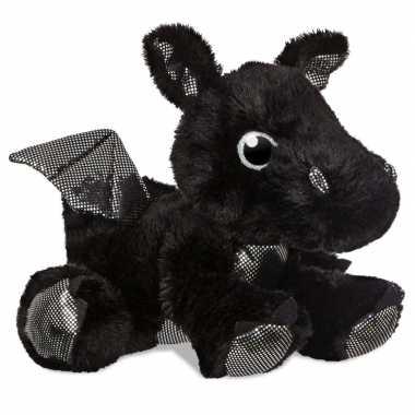 Baby zwarte fantasiedieren knuffels draak speelgoed