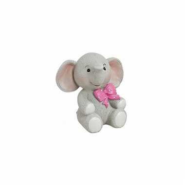 Babykamer beeldje roze olifant speelgoed
