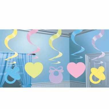 Babyshower decoratie slingers speelgoed