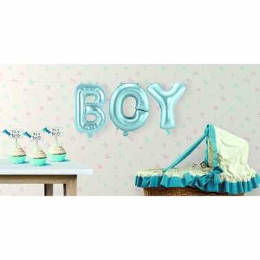 Babyshower jongen opblaasletters speelgoed