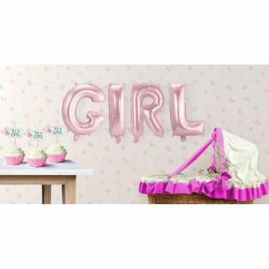 Babyshower meisje opblaasletters speelgoed