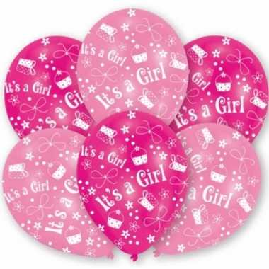 babyshower roze ballonnen stuks speelgoed | speelgoed-baby.nl