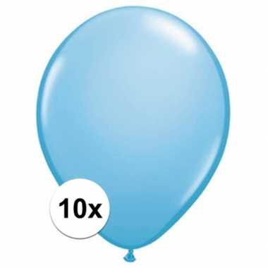 Ballonnen qualatex baby blauw stuks speelgoed