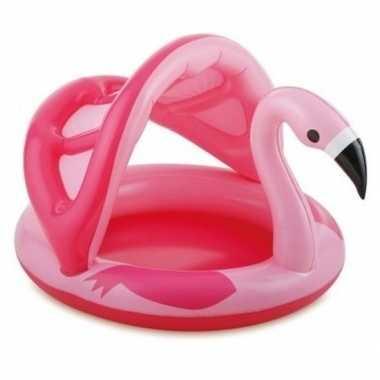 Flamingo zwembad dakje opblaasbaar baby/kinderen speelgoed