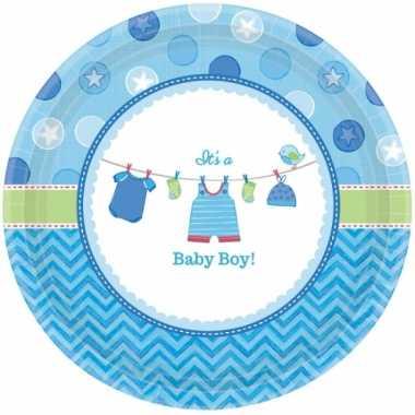 Geboorte jongen bordjes baby boy speelgoed | Speelgoed baby.nl