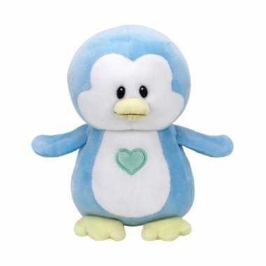 Geboorte jongetje knuffel ty baby pinguin twinkles speelgoed