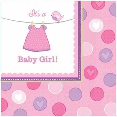 Geboorte meisje servetten baby girl speelgoed