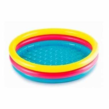 Gekleurd rond opblaasbaar zwembad klein baby/kinderen speelgoed