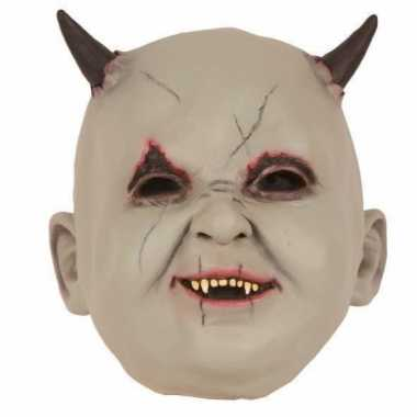 Halloween latex horror masker baby duivel speelgoed