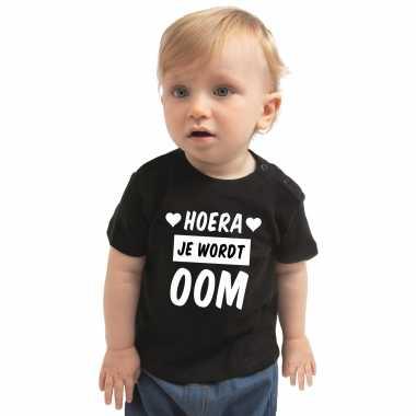 Hoera je wordt oom cadeau t-shirt zwart baby jongen meisje speelgoed