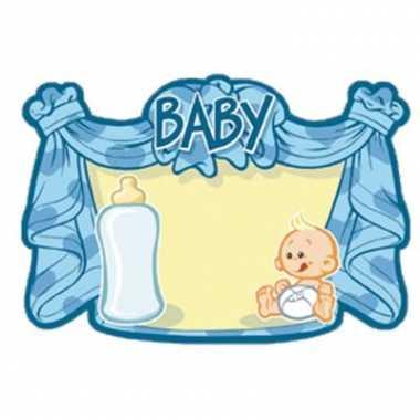 Huldebord blauw baby speelgoed