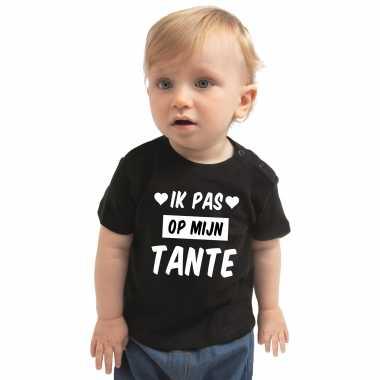 Ik pas mijn tante cadeau t-shirt zwart baby jongen meisje speelgoed