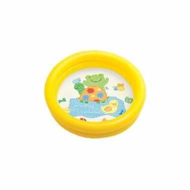 Intex baby kinder opblaas zwembad geel speelgoed