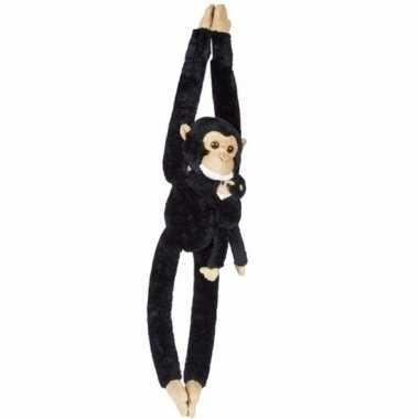 Knuffelbeesten chimpansee baby hangend speelgoed
