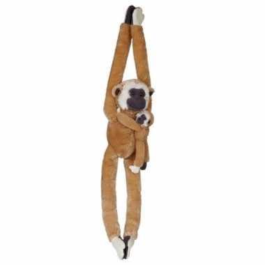 Knuffelbeesten gibbon baby hangend speelgoed