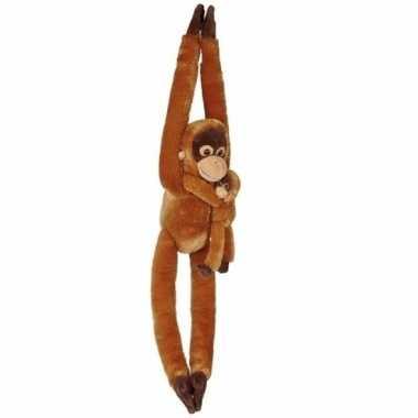 Knuffelbeesten orang oetan baby hangend speelgoed