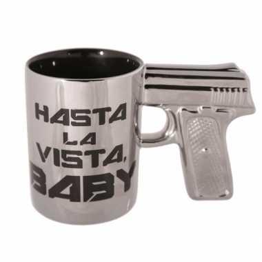 Mok pistool Hasta la Vista Baby speelgoed