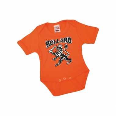 Oranje babypakje korte mouwen speelgoed 10047883