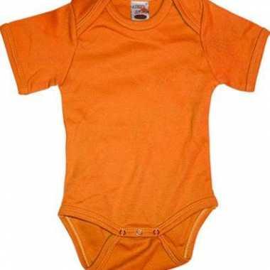 Oranje babypakje korte mouwen speelgoed
