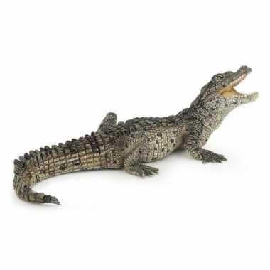Plastic baby krokodil speelgoed