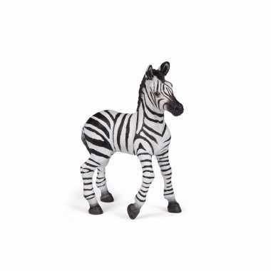 Plastic baby zebra speelgoed