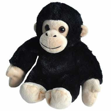 Pluche baby chimpansee aap knuffel speelgoed