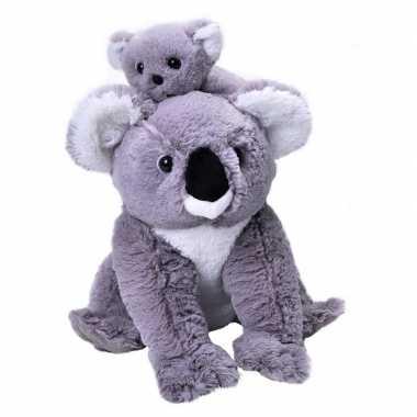 Pluche grijze koala beer baby knuffel speelgoed