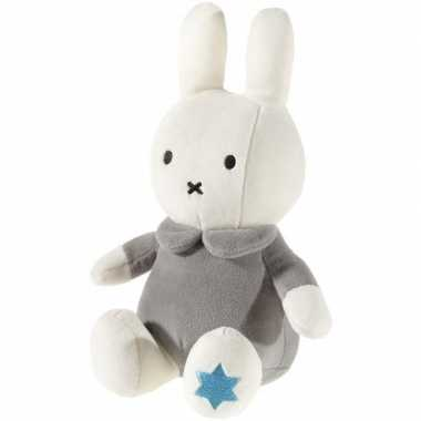 Pluche nijntje knuffel wit grijs baby speelgoed
