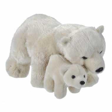 Pooldieren knuffels ijsbeer baby wit speelgoed