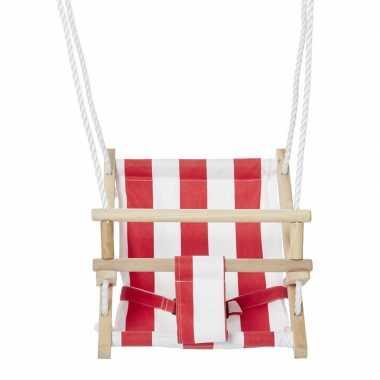 Rood witte baby/dreumes/peuter schommel speelgoed