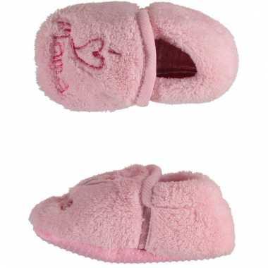Roze babysloffen i love mama speelgoed