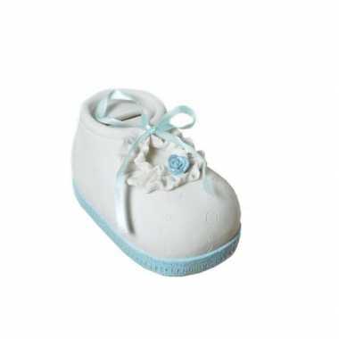 Stenen spaarpotten babyschoenen speelgoed